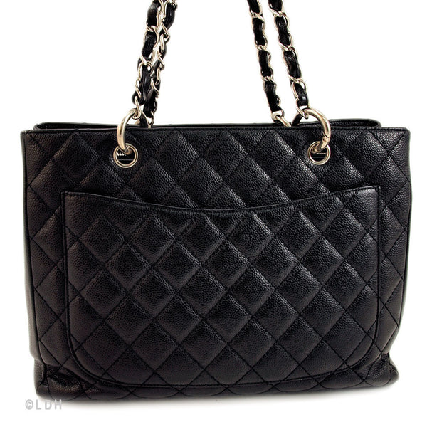 Chanel Black Caviar GST Grand Shopping Tote (Authentic Pre Owned) Leather Handbag (Authentic Pre Owned)