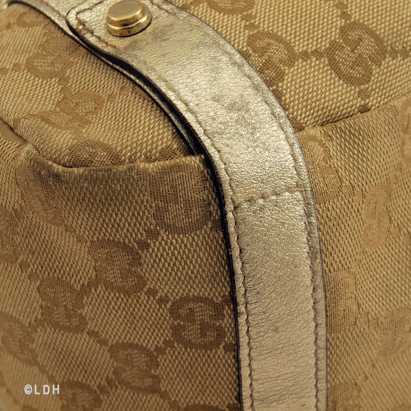 Gucci Metallic Tote (Authentic Pre Owned)