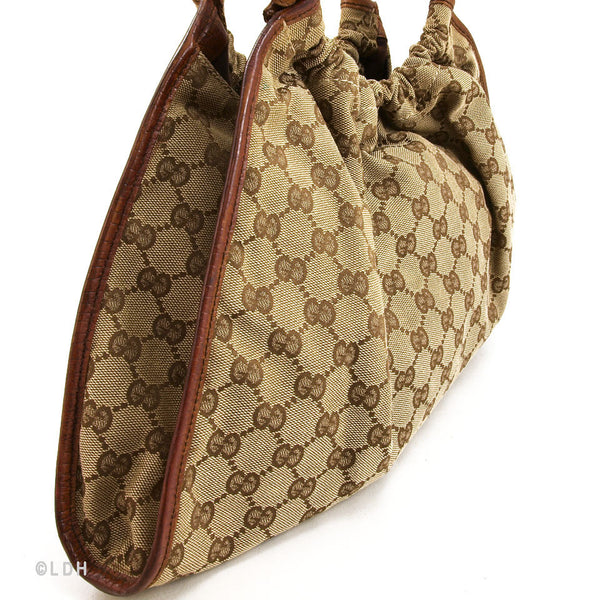 Gucci Monogram Beige Hobo (Authentic Pre Owned)