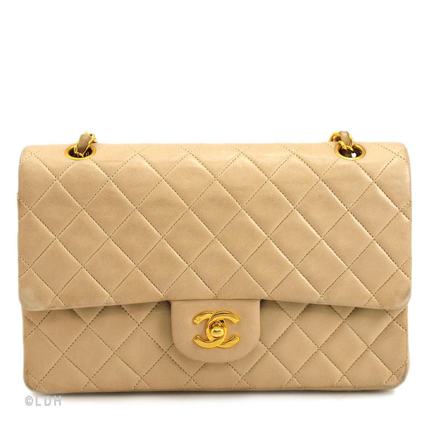e967f9aee992 Chanel Classic Beige 2.55 Lambskin Double Flap (Authentic Pre Owned ...