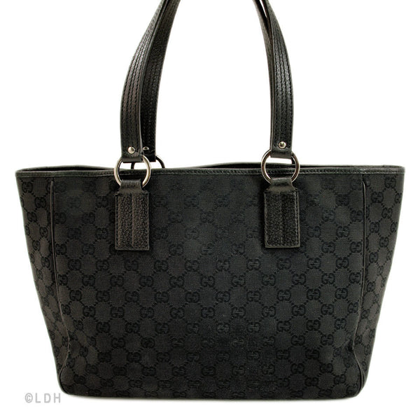 Gucci Black Monogram Tote (Authentic Pre Owned)
