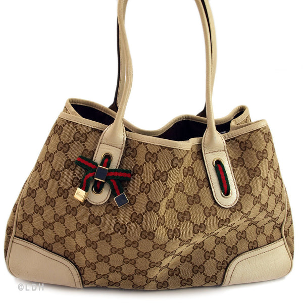 Gucci Beige Shopping Tote (Authentic Pre Owned)