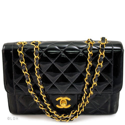 Chanel Black Patent Leather 2.55 Flap (Authentic Pre Owned)