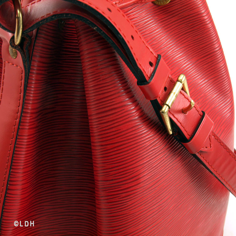 Louis Vuitton Large Red Epi Noe (Authentic Pre Owned)