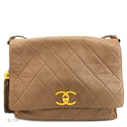 Chanel Tan Lambskin Shoulder (Authentic Pre Owned)