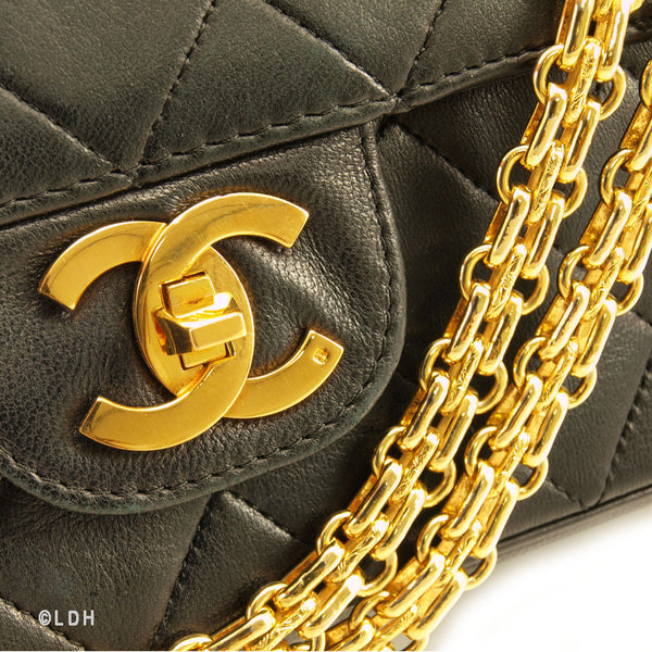Chanel Quilted Lambskin Mademoiselle Double 2.55 Leather (Authentic Pre Owned)