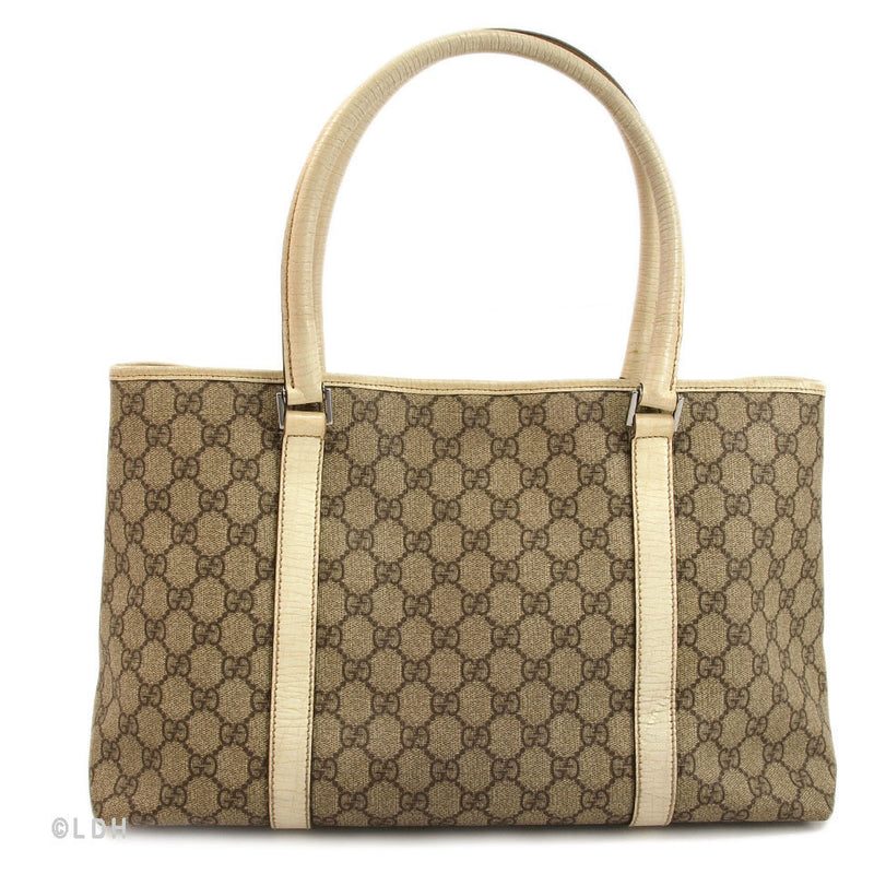Gucci Creme Shopping Tote (Authentic Pre Owned)