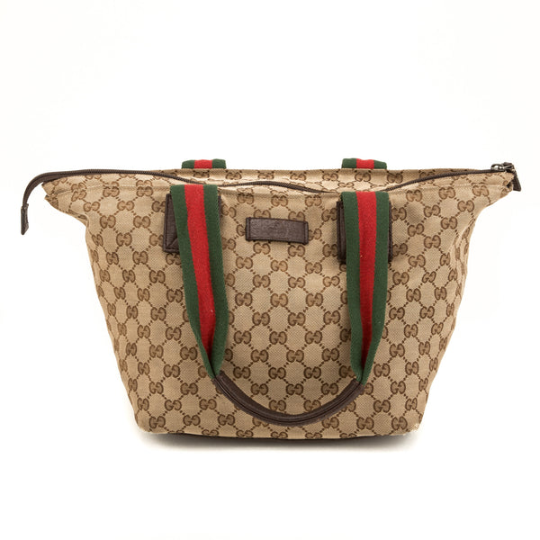 Gucci Brown Monogram Medium Tote (Authentic Pre Owned)