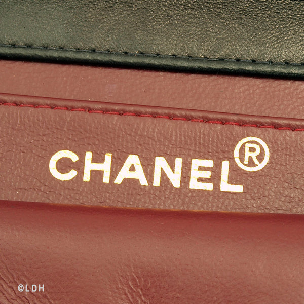 Chanel Black Lambskin Single Chain (Authentic Pre Owned)