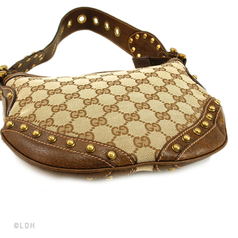 Gucci Monogram Studded Hobo (Authentic Pre Owned)