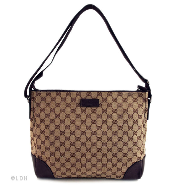 New Gucci Brown Monogram Messenger