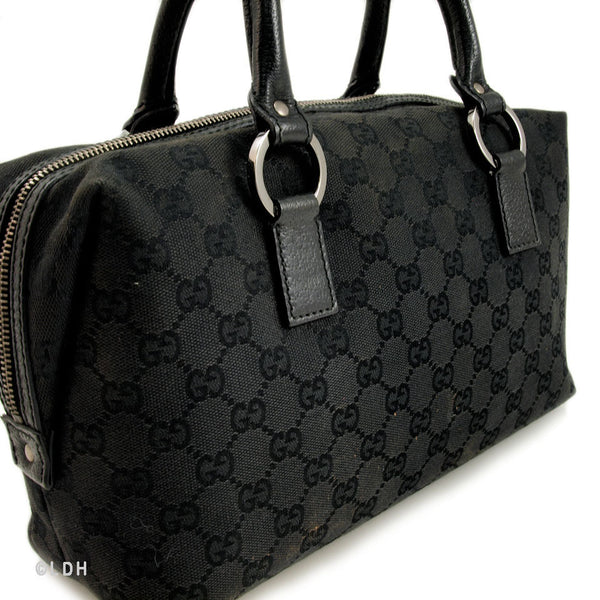 Gucci Black Monogram Bowling (Authentic Pre Owned)