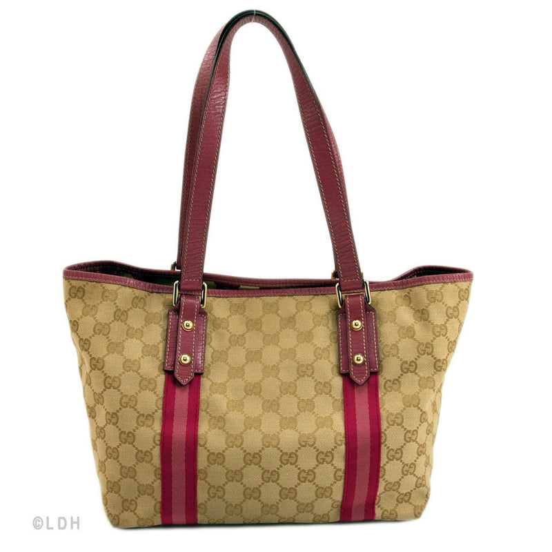 Gucci Tan & Pink Shopping Tote (Authentic Pre Owned)
