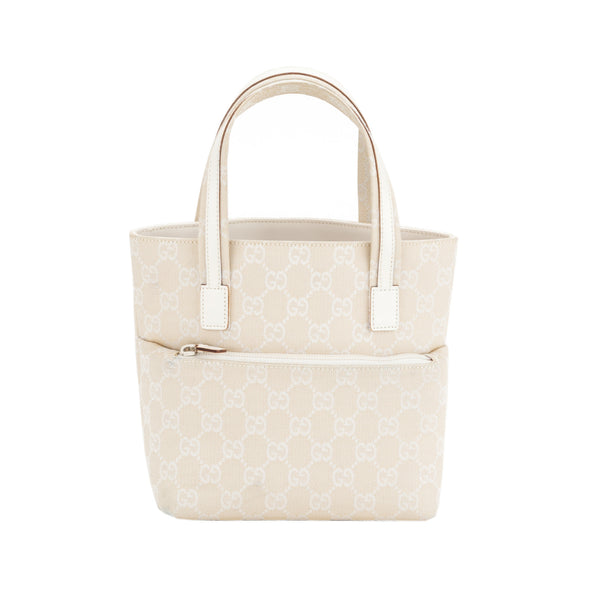 Gucci Crème Monogram Shopping Tote (Authentic Pre Owned)