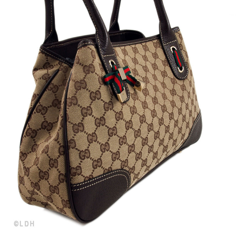 Gucci Beige Shopping Tote with Bow Charm (Authentic Pre Owned)