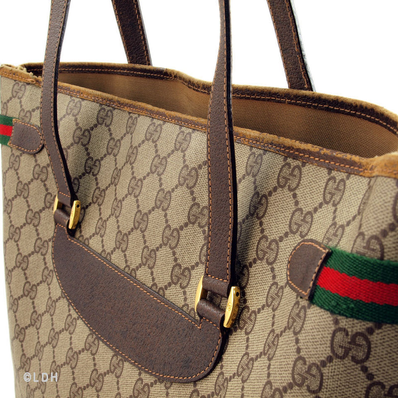 Gucci Tan Vintage Shopping Tote (Authentic Pre Owned)