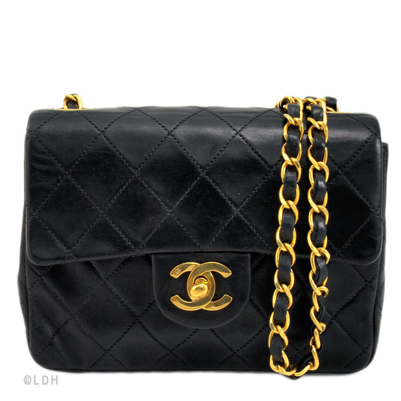 Chanel Black Lambskin Mini Flap (Authentic Pre Owned)