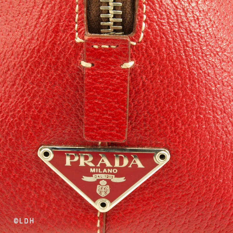 Prada Red Bowler (Authentic Pre Owned)