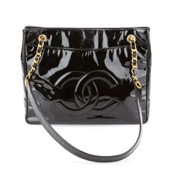 Chanel Patent Leather Shopping Tote (Pre Owned)