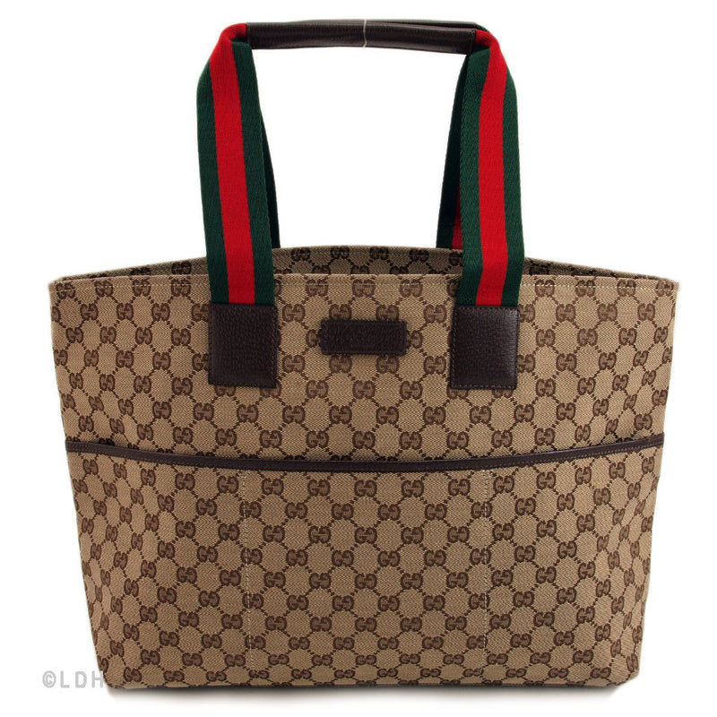 Gucci Beige Diaper Shopper Tote (Authentic Pre Owned)