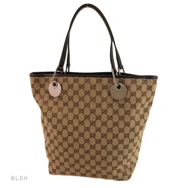 Gucci Beige Bucket Tote (Authentic Pre Owned)