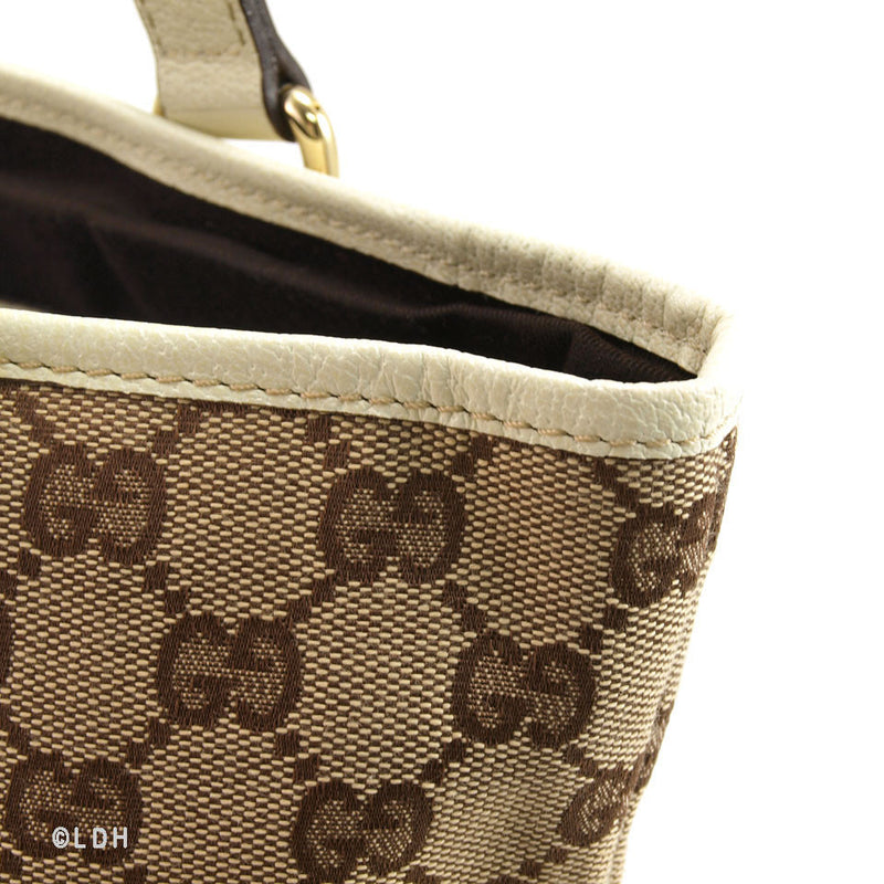 Gucci Bucket Tote with White Trim (Authentic Pre Owned)