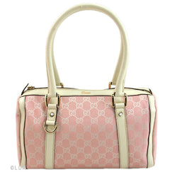 Gucci Pink and White Abbey Boston (Authentic Pre Owned)