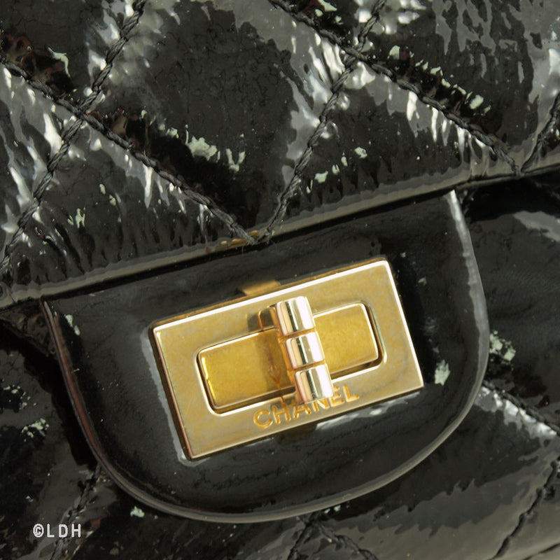 Chanel Black Patent Leather 2.55 Flap (Pre-Owned)