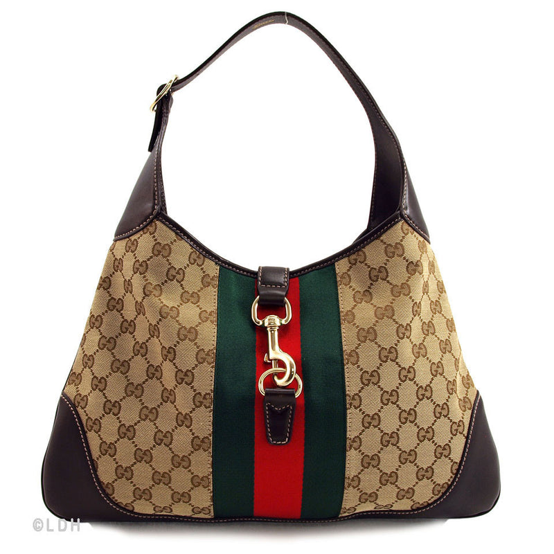 Gucci Monogram Horsebit Hobo (Authentic Pre Owned)
