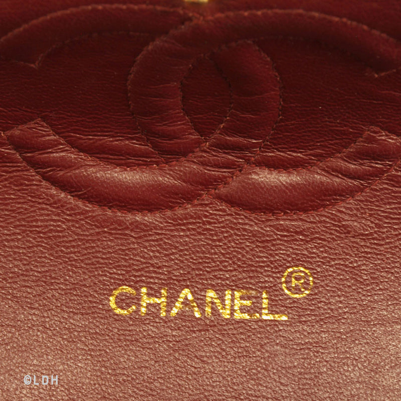 Chanel Black Lambskin Double Chain (Authentic Pre Owned)