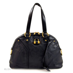 Yves St Laurent Black Leather Medium Muse (Authentic Pre Owned)