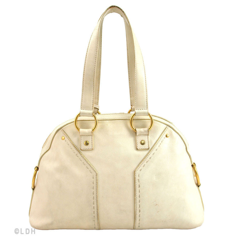 Yves St Laurent White Leather Small Muse (Authentic Pre Owned)