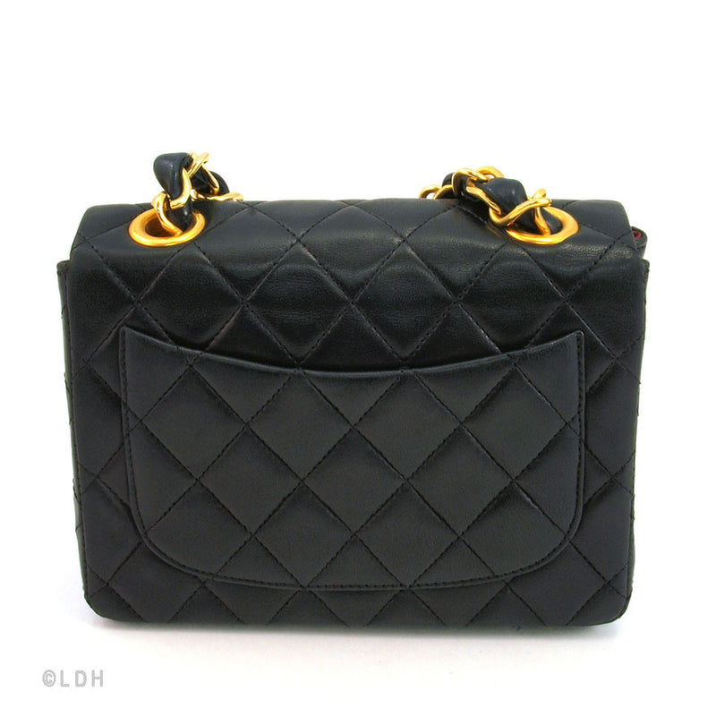 Chanel Black Quilted Lambskin Mini Flap (Authentic Pre Owned)