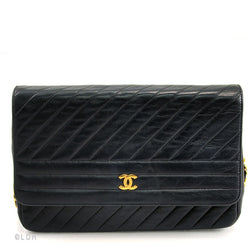 Chanel Black Vertical Quilted Lambskin Single Flap (Authentic Pre Owned)