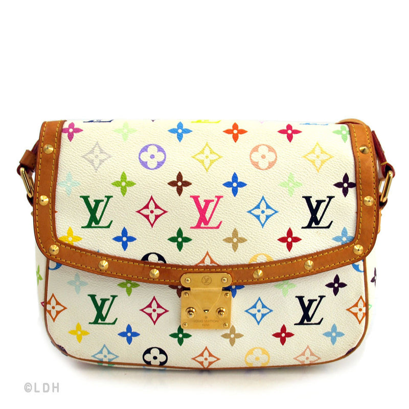 Louis Vuitton Multicolored White Sologne (Authentic Pre Owned)