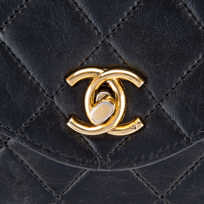 Chanel Black Lambskin Classic Flap (Authentic Pre Owned)