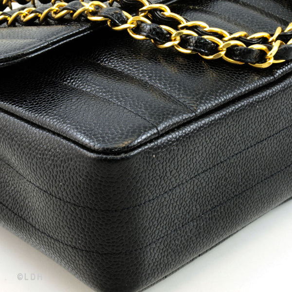 Chanel Black Caviar Shoulder (Authentic Pre Owned)