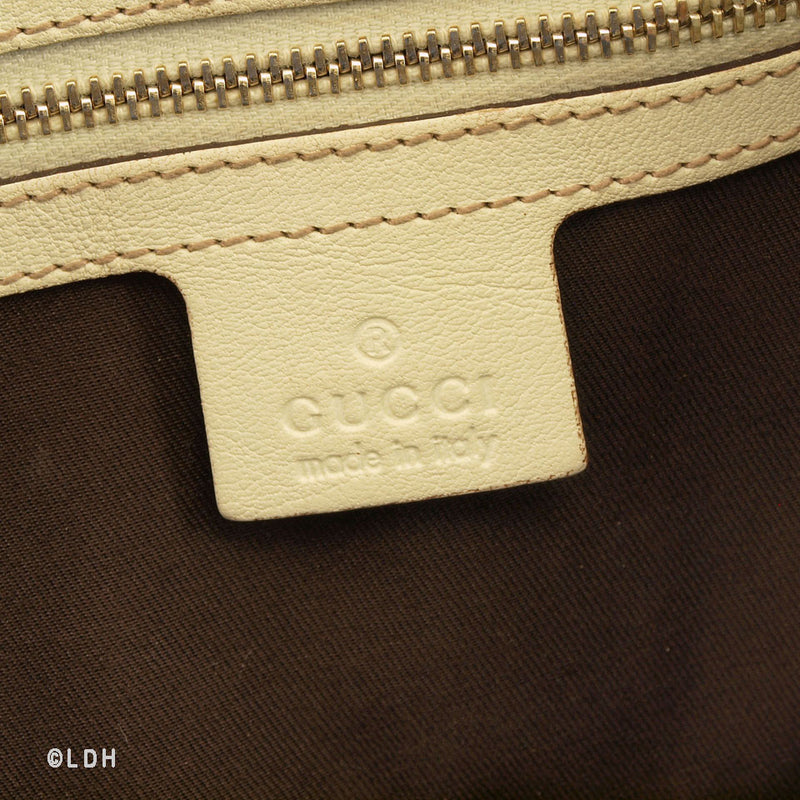 Gucci Pelham with White Leather Trim (Authentic Pre Owned)