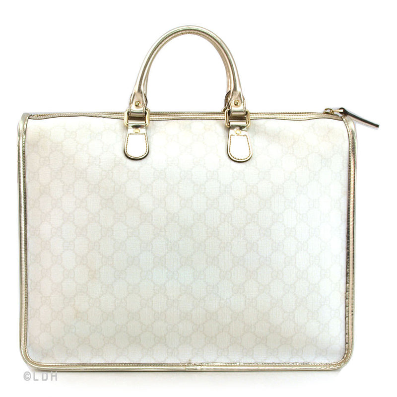 Gucci White Tote with Silver Trim (Authentic Pre Owned)