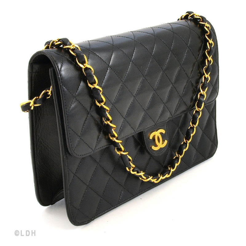 Chanel Black Matelasse Shoulder (Authentic Pre Owned)
