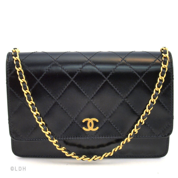 101a0e5bcc86 Chanel Black WOC Wallet on Chain (Authentic Pre Owned) - 104707 | LuxeDH