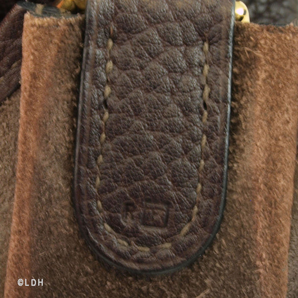 Hermes Veau Graine Coucherel Brown Evelyn MM Stamped W (Authentic Pre Owned)