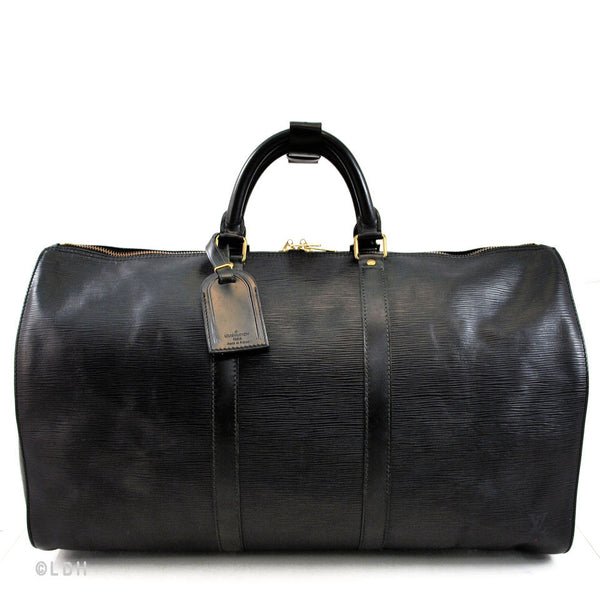 Louis Vuitton Black Epi Keepall 50 (Authentic Pre Owned)