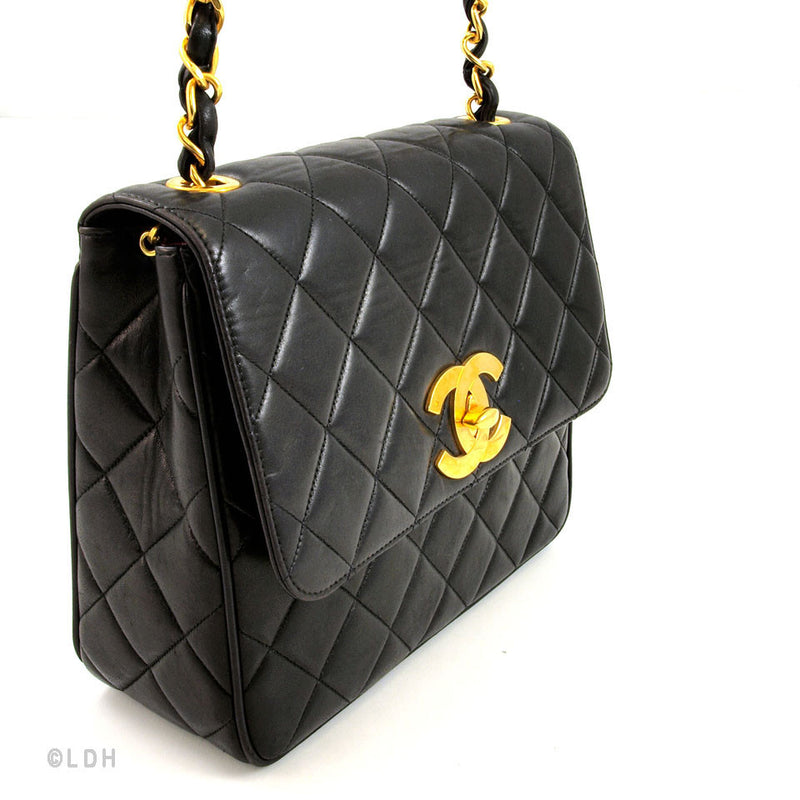 Chanel Black Quilted Medium Flap (Authentic Pre Owned)