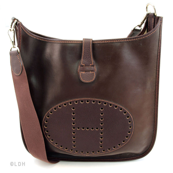 Hermes Amazonian Brown Leather Evelyn Bag (Authentic Pre Owned)