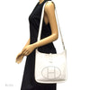 Hermes Veau Graine Coucherel White Evelyn PM Stamped W (Authentic Pre Owned)