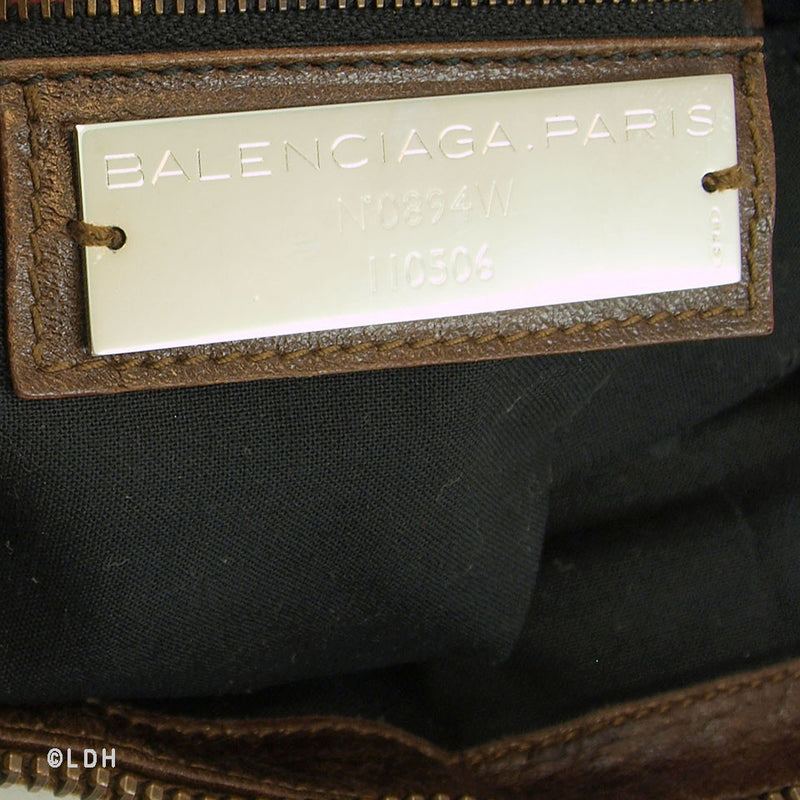 Balenciaga 2006 F/W Chevre Camel Weekender (Authentic Pre Owned)