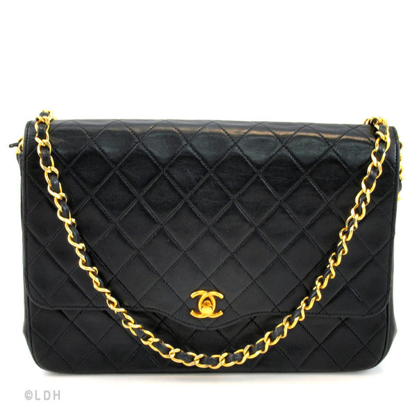 Chanel Quilted Lambskin Single Flap (Authentic Pre Owned)