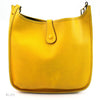 Hermes Veau Graine Coucherel Yellow Evelyn PM Stamped W (Authentic Pre Owned)