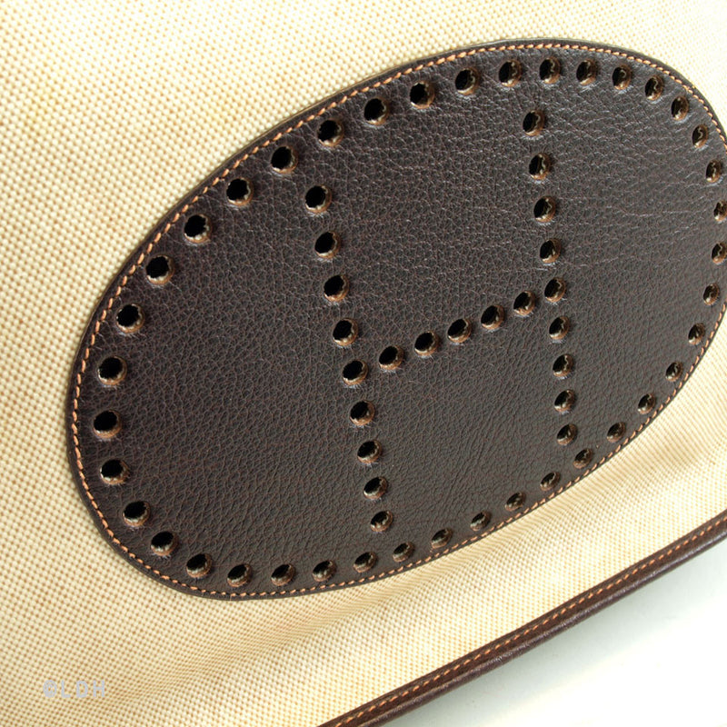 Hermes Veau Graine Coucherel Brown Evelyn PM Stamped W (Authentic Pre Owned)